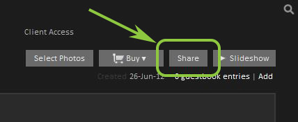 Image/gallery sharing options.