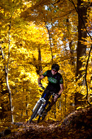 Mountian Bike Rider and Fall Colors