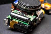 The flash capacitor in a Canon 550D T2i will literally shock the crap out of you.