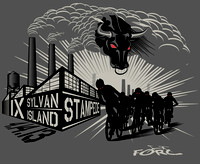 2013 Sylvan Island Stampede Event T-shirt Artwork