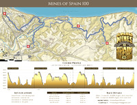 Mines of Spain 100 Trail Running Race Course Map